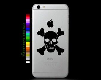 Skull and Crossbones Phone Decal
