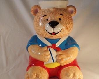 COOKIE JAR ~  Adorable Vintage, Sailor Bear