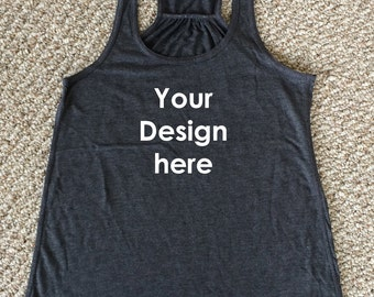 Customized design WITH ILLUSTRATION women's racer back tank top