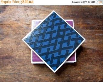 Tile Coasters, Blue and Purple Coasters, Unique Coasters, Drink Coasters, Table Coasters, Paper Coasters, Ceramic Coasters, Set of 4