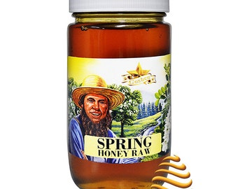Amish Spring Raw Honey  Kosher Unfiltered 1lb
