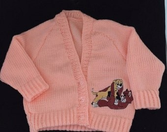 Fox and hound embroidered cardigan