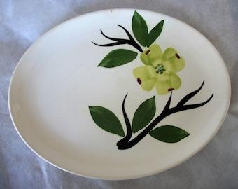 Vintage Joni Dixie Dogwood by Stetson China Company Oval Ceramic Serving Platter Handpainted
