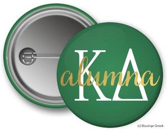 KD Kappa Delta Alumna Sorority Greek Button