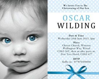 Baptism Invitation, christening invitation, Announcement, baptism photo invitations, baby blessing invitations, Birth Announcement, new baby