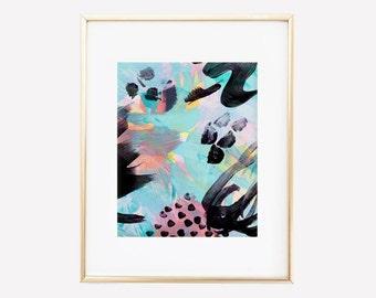 Luna // Abstract Painting // Digital Print