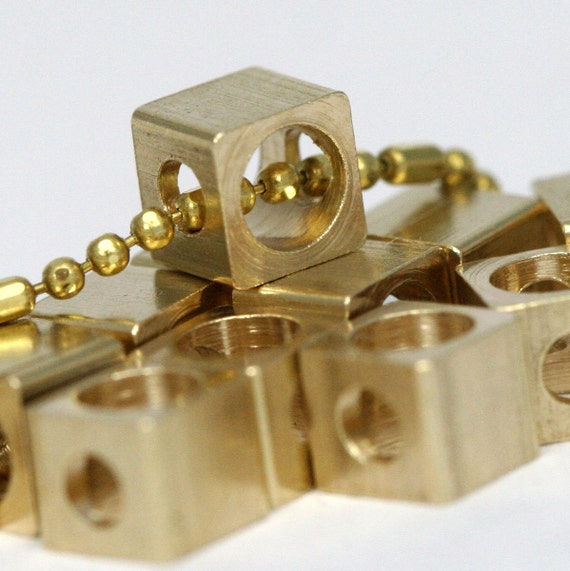 "25 pcs Raw Brass square 4 x 3.5 mm 5/32"" x 9/64""  finding square industrial design (3 mm 1/8"" hole ) 1275R"