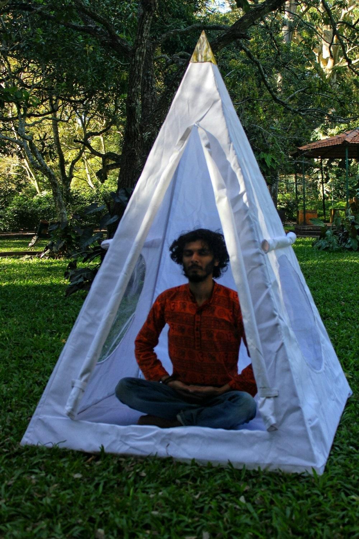 Nubian Copper Framed Meditation Pyramid 4 Feet Base Lite Duty