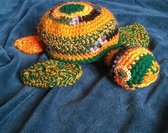Crochet Sea Turtle - Stuffed Animal - Handmade Toy
