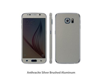 Samsung Galaxy S7 Full Body Wrap DECAL Sticker Skin Kit Metal series by Stickerboy - Set 1