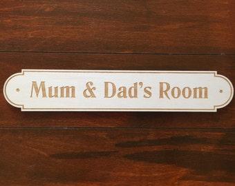 Mum And Dad Bedroom Door Sign
