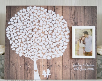 Wedding Guestbook - Rustic Wedding Guest Book - Custom Guest Book - Alternative Unique Guestbook - Tree Guest Book