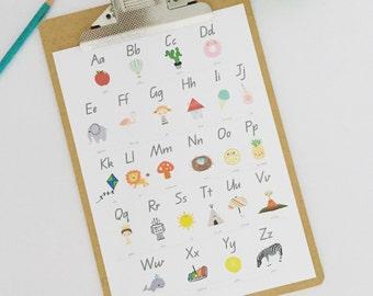 Alphabet Wall Print