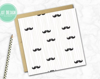 Moustache Mania Mini Card
