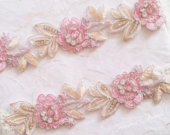 Wedding Garter Set,Bridal Garter blush,Bridal Garter two tone blush and ivory,Wedding Garter,Lace Garter, Garter Set blush, garter set white