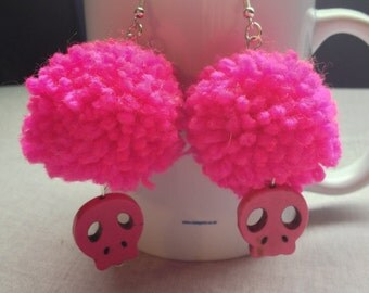 pomeranian skull items similar to skull earrings on etsy 8679