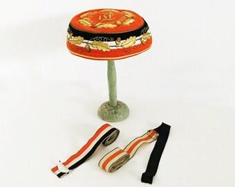 1920s Vintage Student Lodge Fraternity German Catholic Student Association Hat & Medal Straps