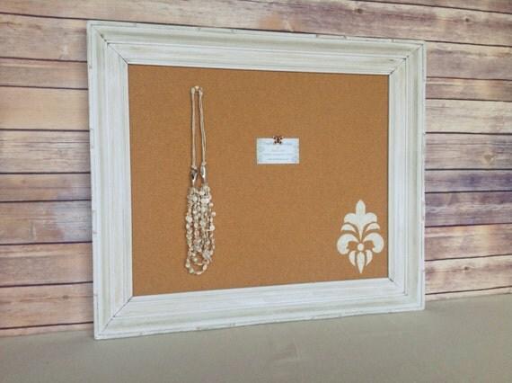 White Framed Pin Board Framed Cork Board By Youmatterdesigns