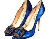 Personalised Shoes Custom Fashion Illustration Wall Art