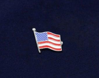 15 American Flag Lapel Pins - 15 Pins (PTP-01)