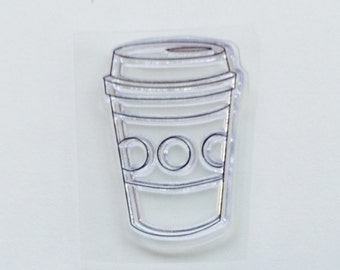 New for Rubber Stamping & Handmade Cards 1 Clear Acrylic Stamp Coffee Cup