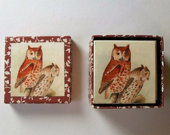 memory game vintage owls matching game