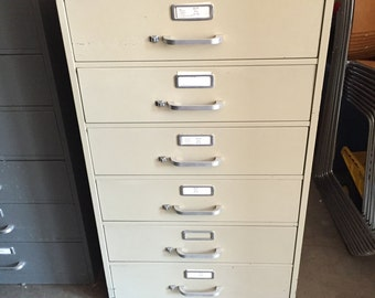 Industrial Steel Card File Cabinet