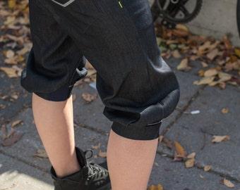 """CIRCUS 2014 """"SALE"""" women's denim cycling puffy short / CIRCUS 2014, short bouffant pour femme en denim pour le vélo"""