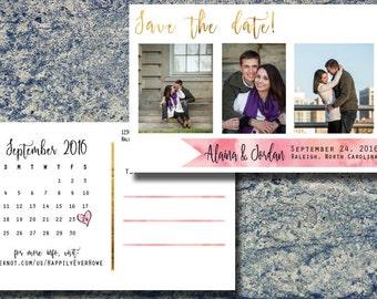 Custom Save the Date Postcard - Ribbon