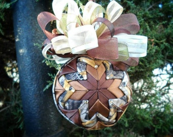 Camouflage Quilted Ornament -Free Shipping