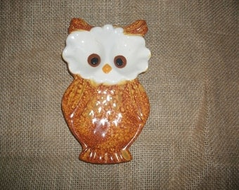 Vintage Pottery Owl Spoon Rest
