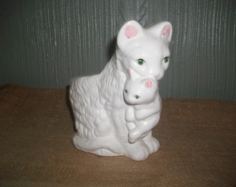 Momma Kitty and Baby Planter