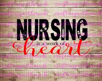 Nursing is a Work of Heart- Cricut Explore - Design Space