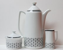 "Rare Mid-century Swedish Rorstrand ""Venezia"" coffee pot by Hertha Bengtson - 1954."