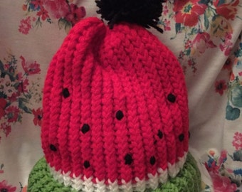 Knitted watermelon hat-ready to ship