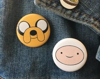 "Adventure Time- Finn and Jake Best Friends Bundle Button Pinback 1.25"""
