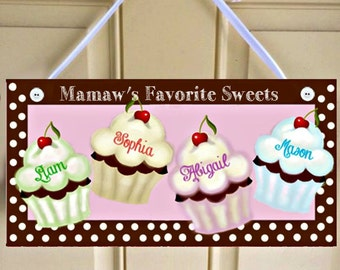 Personalized Cupcake Decor, Grandma, Grandmother, Grandfather, Grandpa, Mamaw, Mimi, Mom, Mother, Nana, Papa, Papaw
