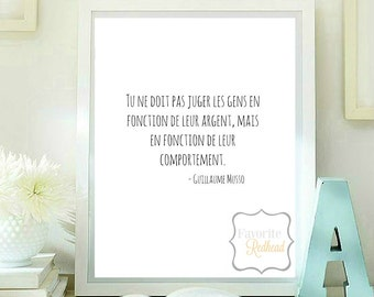 You should not judge people... Printable quote Quotes printable - Guillaume Musso