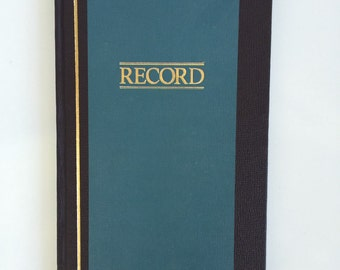 Vintage Seventies Record Ledger Book