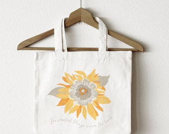 Shopping Tote Bag | Sunflower Tote Bag | Great Gift Idea | Canvas Tote Bag