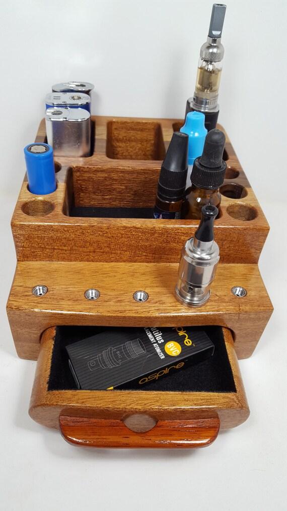 E Cigarette Ecig Vapor Vape Wood Organizer Stand Ec0408