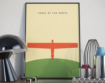 Angel of the North Print. Poster.