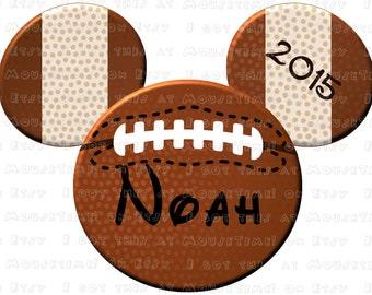 IRON-ON Football Mickey Ears! - Mouse Ears Tshirt Transfer
