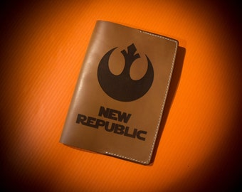 "Leather passport cover ""Star Wars New Republic"""