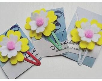 Hairclip for little girls, children, flowers!