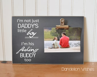Fisherman Frame Gift for Dad  {...Daddy's Little Boy ... Fishing Buddy}  Picture Frame, Father's Day Present, Father Son Gift, Gifts For Men