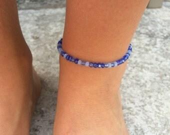 Blue Summer Anklet