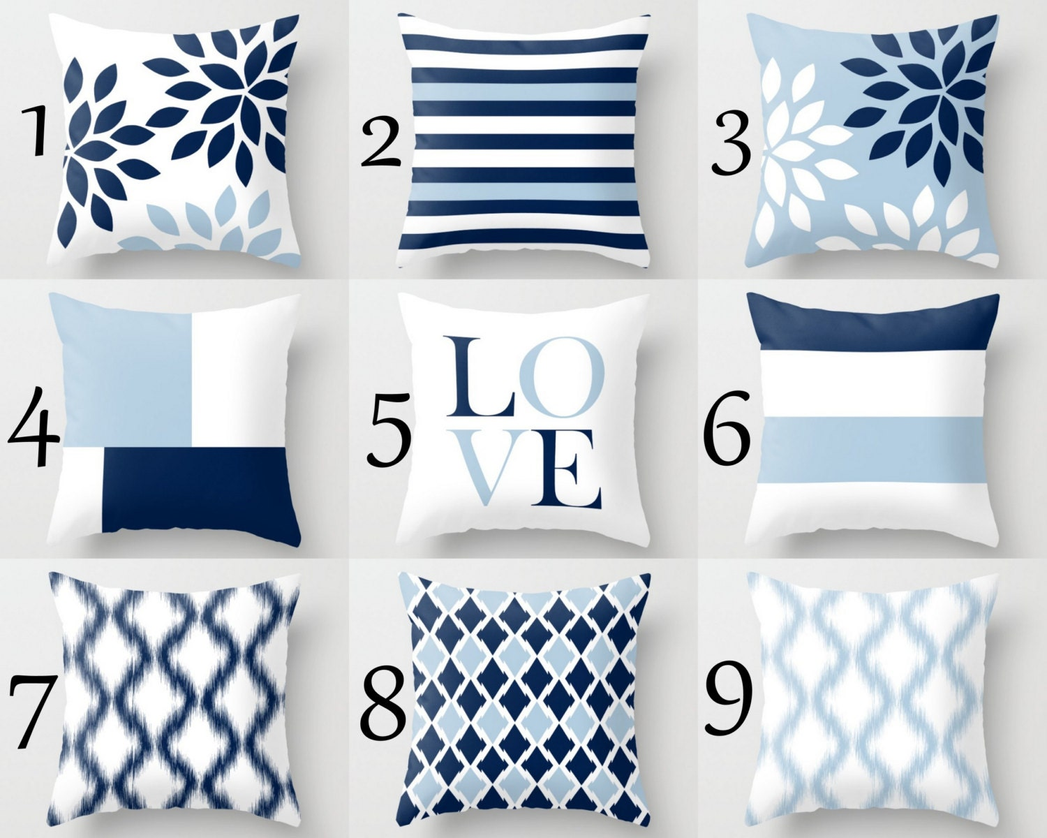 throw pillow covers light blue white navy blue pillow - details throw pillow cover designs in light blue