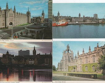 Aberdeen, Scotland, 10 Unused Postcards  c1980s, good shape, Town House, Marischal College, King's College, Harbour, Wallace Statue