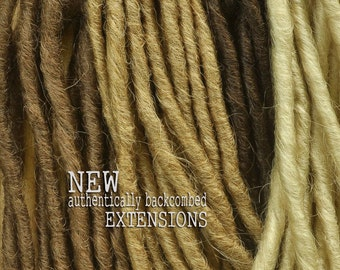 Dreadlock Extensions Backcombed - 10 pack